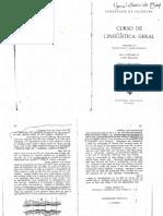 Saussure - o valor linguístico