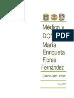 Dra. Flores CV  Oficial 2018