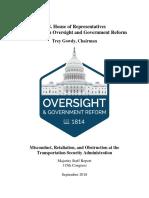 House Oversight Committee Report on TSA Misconduct