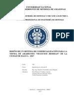 """DISEÑO DE UN SISTEMA DE COMERCIALIZACIÓN PARA LA TIENDA DE ABARROTES """"NEGOCIOS JHORDAN"""" DE LA CIUDAD DE BAGUA - 2017"""
