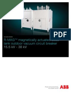 Abb R-mag Breaker Brochure 1val255101-Db Rev j | Capacitor