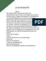 Fichas de Registro