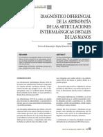DIAGNÓSTICO DIFERENCIAL DE LA ARTROPATÍA DE LAS ARTICULACIONES INTERFALÁNGICAS DISTALES DE LAS MANO