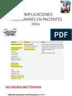 Complicaciones Pulmonares en Hiv 2016 Muñiz Sep Dr.bruni