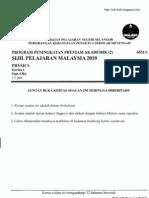 SPM trial sel 2010 P 1