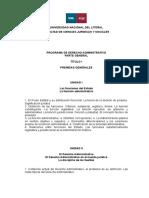 Programa de Derecho Administrativo (Comisión B2) 2018