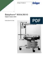 Dräger Babytherm 8004-8010 - User Manual