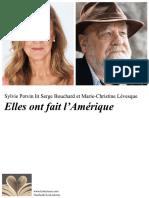 Affichette Lecteurs Serge Bouchard et Marie-Christine Lévesque ¨Elles ont fait l'Amérique¨25 Sept 2018_vfinale