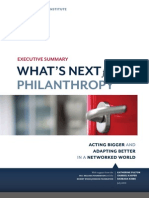 What's Next for Philanthropy - Monitor Institute - Executive Summary