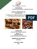 Comercializacion de Chocolate 2015