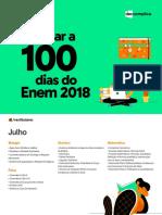 2018 eBook O Que Estudar a 100 Dias Do Enem 2018