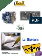 Hipotesis y Ejemplo 2015