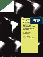 13. Programa de Las Xv Jornadas de Estudiantes de Postgrado. Mesa Presentada La Universidad en Chile Refexiones e Ideas