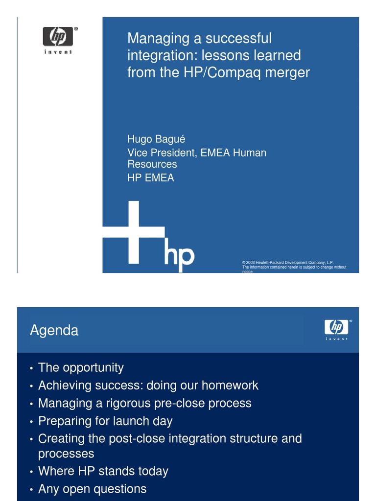mergers and acquisitions the life of hewlett packard essay
