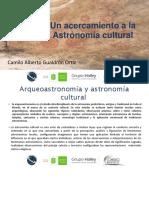 Un acercamiento a la astronomía cultural