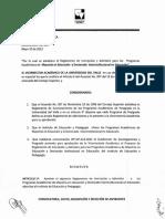 Resolucion No 158 Maestria en Educacion y Doctorado Interinstitucional en Educacion