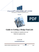 Guide to Getting a Hedge Fund Job