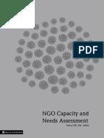 NGO Capacity & Needs Assessment - Raajje Foundation