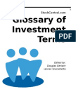 StockCentral Glossary of Investment Terms 10-10-2007