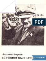 El Terror Bajo Lenin - Jacques Baynac