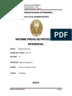 Informe Previo de Proteccion Diferencial