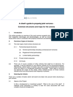 A Client Guide to Property Joint Venture Vehicles June 2011