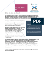 Arts and Social Change Backgrounder April 2018