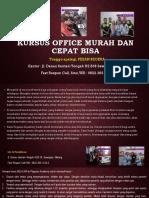 Belajar Office, Fast Respon Call/ WA