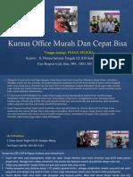 Kursus Excel Advanced, Fast Respon Call/ WA