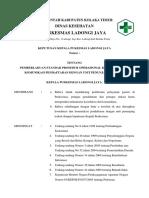 Sk Koordinasi Dan Komunikasi Antara Pendftaran Dengan Unit Penunjang Terkait Pkm Ladongi Jaya 2018