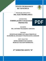 Investigacion Caracteristicas Sociales, Economicas y Oiliticas de La Region