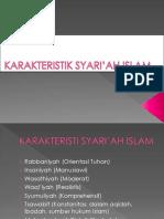 g Vii Karakteristik Syari'Ah Islam