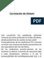 Correlación de Oistein