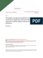 Hospitality Management Graduates Perceptions of Career Factor Im