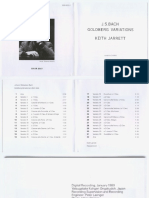Keith Jarrett - J.S. Bach - Goldberg Variations - 1988