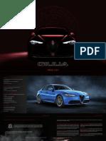 Alfa Romeo Giulia Range and Quadrifoglio Pricelist
