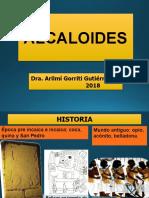 Primera Clase Alcaloides Miércoles 15 de Agosto Del 2018