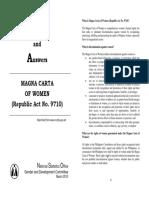 Magna Carta of Women Q&A