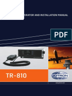 Operator & Installation Manual Tr-810 857645