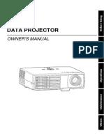 Projector Manual Toshiba Pd P9