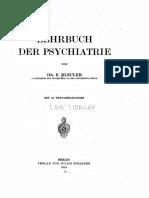 Eugen Bleuler - Lehrbuch Der Psychiatrie