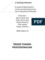 Trends in Professionalism