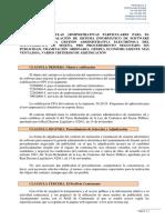 Pliego Clausulas Técnica Contrato sede electrónica SESENA