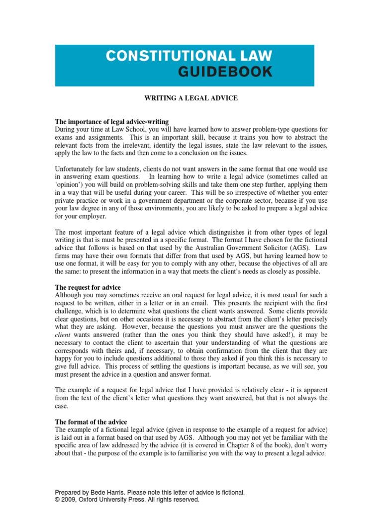 Writing a legal advice advice opinion contractual term altavistaventures Choice Image