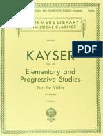 36 Elementary and Progressive Studies (HE Kayser) (Ed Schirmer)