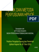 Teknik & Metode Penyusunan HPS