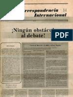 Correspondencia Internacional 14
