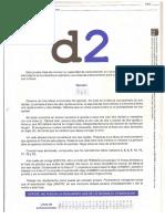 D2 (Test, Plantilla de Corrección y Hoja de Respuestas)
