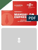 Atendimento ao Cliente e Pós Venda - Manual do Empresário - Fascículo 7.pdf