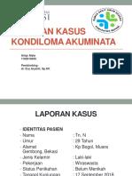 LAPORAN KASUS KONDILOMA
